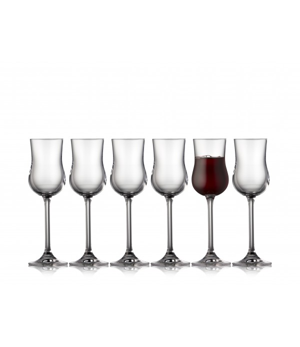 Portwijn/Grappa glas, 6 stuks - Glas - 9 cl