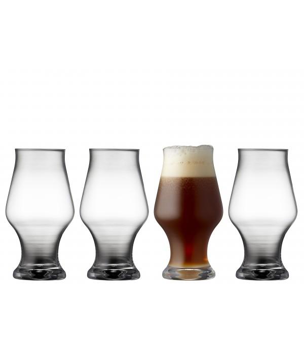 Donker bier glas, 4 stuks - Glas - 57 cl