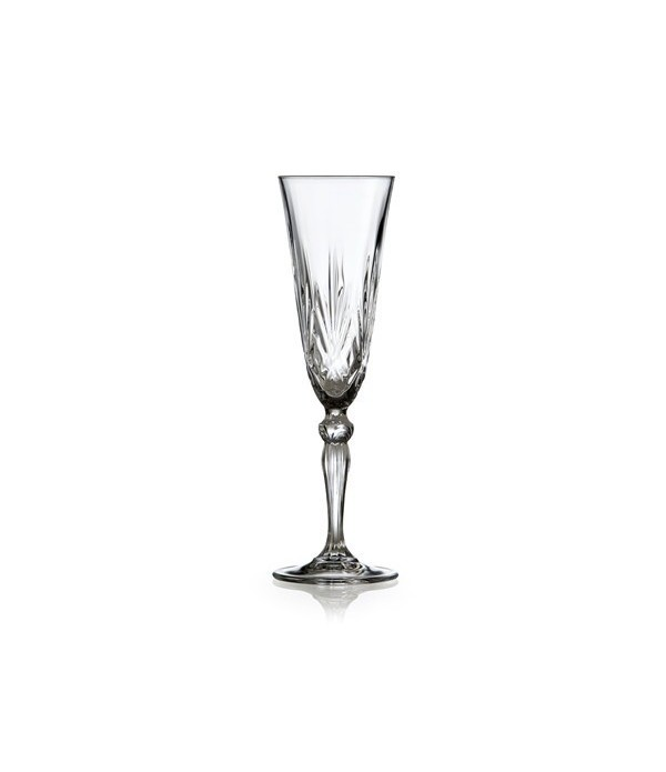 Champagneglas, 4 stuks - Melodia - Kristalglas - 16 cl
