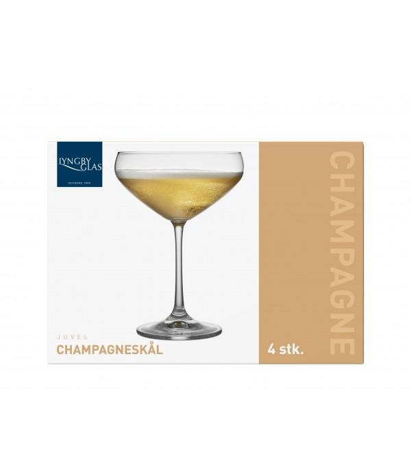 Champagneglas, 4 Stuks - Glas - 34 cl