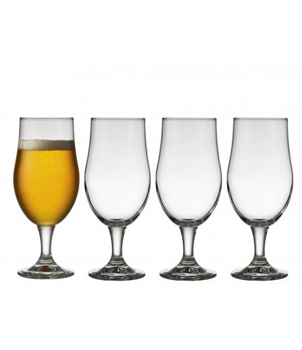 Bierglas, 4 Stuks - Glas - 49 cl