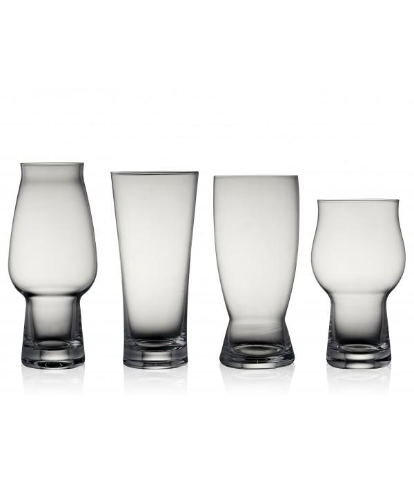 Bierglazen, 4 stuks - Glas - Assorti