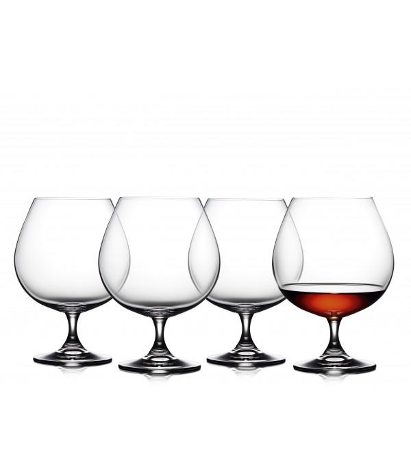 Cognacglas, 4 Stuks - Glas - 69 cl