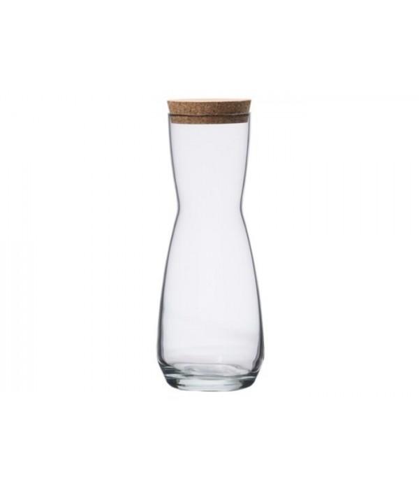 Karaf 1 liter, met kurk - Lyngby Denmark