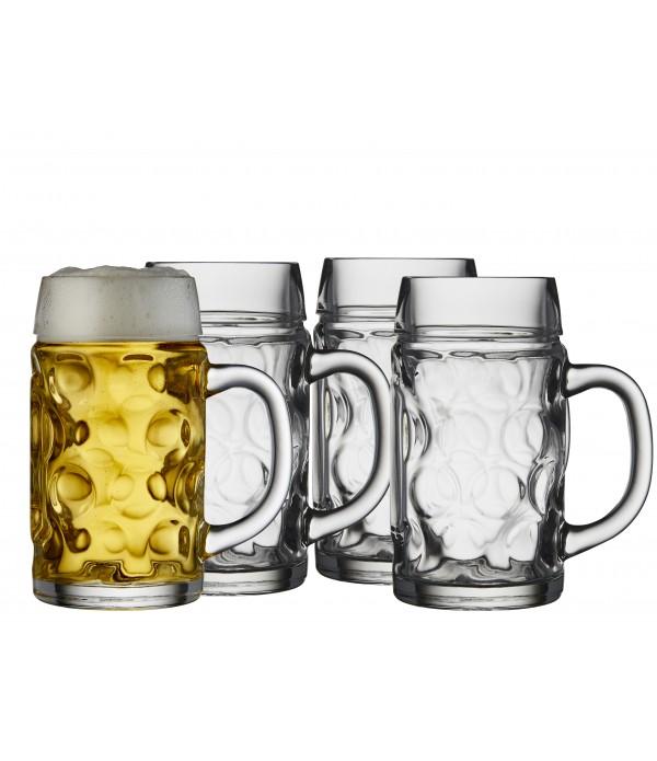 Bierpul, 4 Stuks - Glas - 0,5L