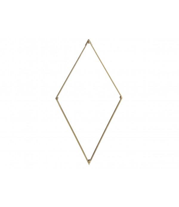 Spiegel Lily 26*46 cm Brass Gla