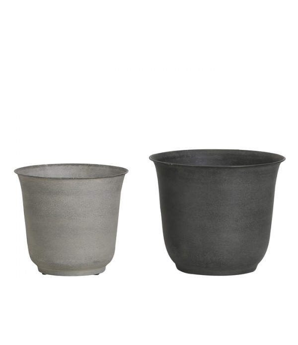 Bloempot Walde metal set of 2