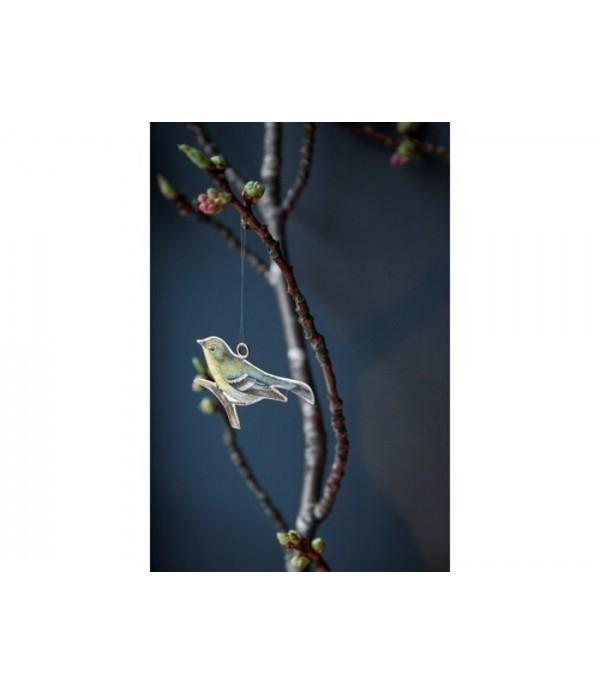 Ornament Gera Vogel 10x7 cm
