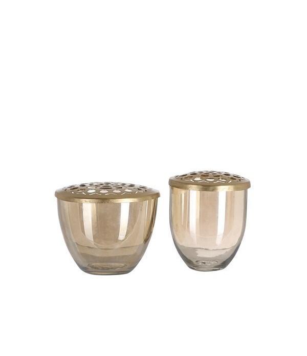 Vaas set Kim set of 2 brass