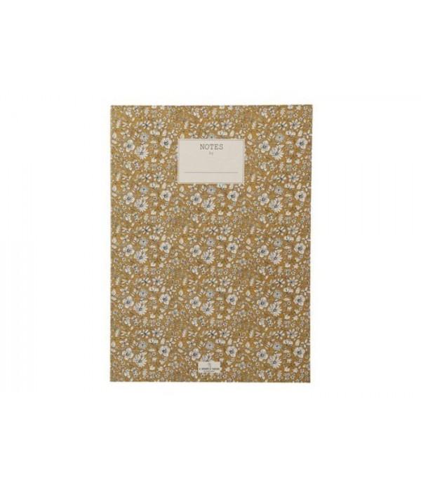 Notitieblok Nynne 25x18 cm goud