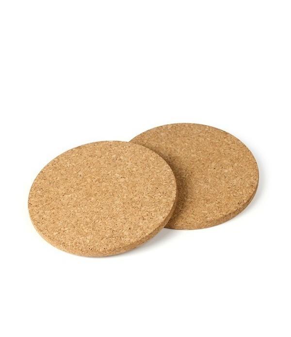 Cork pads rond 2pcs dia.17 cm